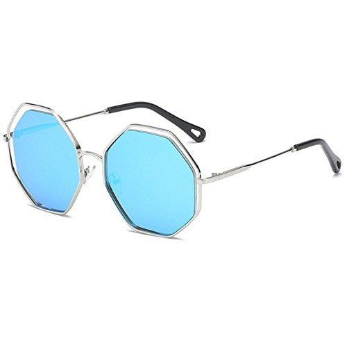Aoligei Mode hommes et femmes lunettes de soleil polygone personnalité lunettes de soleil lunettes de soleil rétro H