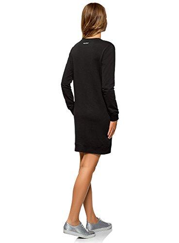 oodji Ultra 2991p Robe Style Sportif Noir Imprim Femme Crq8BxCT