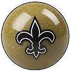 New Orleans Saints Shift Knob (Gold) (New Orleans Saints Billiard Ball)