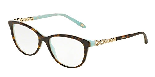 Tiffany Eyeglasses TIF 2120B Eyeglasses 8134 Havana - Tiffany Eye Glasses