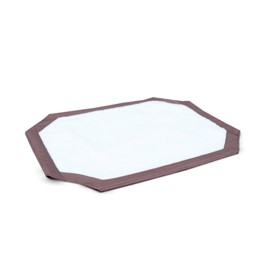 K&H Pet Products Self-Warming Pet Cot Replacement Cover Large Chocolate/Fleece 30
