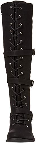Boots Browns Joe Noir Up Strappy Black Femme Freestyle Lace A Bottes x6PqPXw