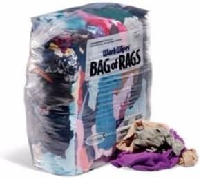 25 lb Compressed Bag of Colored T-Shirt Rags