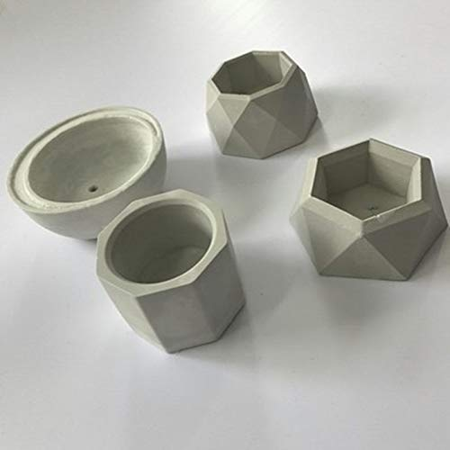 Concrete Planter Best Quality - Clay Molds - Concrete Planter Cactus Cement Silicone Mold DIY Clay Craft Flower Pot Mold Silicone Ceramic Plaster Vase Mould - by GTIN - 1 PCs