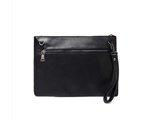 Black Waterproof Business Portfolio Leather Bag Men's Man Large Fuxitoggo Multifunction color Black Clutch Capacity g7xUqF