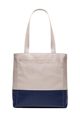 Kate Spade Lita Street Andrea Tall Tote Bag, Crisp Linen/Ocean Blue