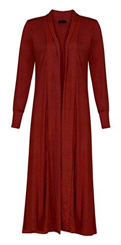Ami Manches Petit Fast Plaine Maxi Cardigan Long Longues Fashion Femmes Vin Ouvert wHqqnEfBX