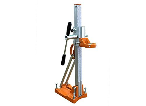 Core Drill Stand with Sliding Guide Carriage by Gölz DS160S for use with handheld Core Motor – Angle drilling up to 45° – Anchor/Vaccum Base
