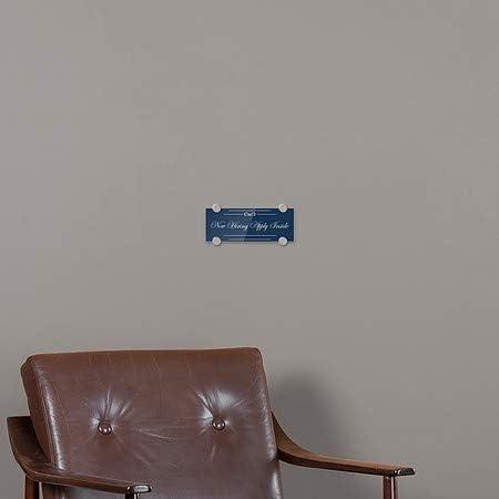8x3 Classic Navy Premium Acrylic Sign CGSignLab Now Hiring Apply Inside