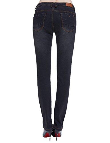 Camii Chaud en Hiver Slim pais Fit Femme Mia Polaire Jeans Taille Noir Nouvelle wqCtwOr0