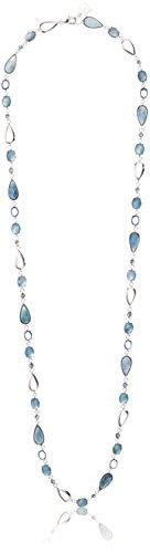 Anne Klein Silver-Tone Blue Strand Necklace, 43'' by Anne Klein