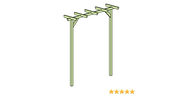 Pergola Terni Flora Fácil – Dimensiones: 225 x 60 x 240 cm (B X T x h): Amazon.es: Bricolaje y herramientas