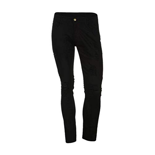 Da Fit Mode In Slim Uomo Pants Casual Marca Skinny Jeans Strech Slimblack Pantaloni Denim Di Destroyed Chern f0tXxww
