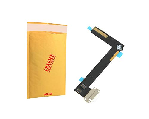 (md0410) White USB Charging Port Charge Dock Connector Charger Flex Ribbon Cable Replacement Part Compatible ipad 6 / Air 2