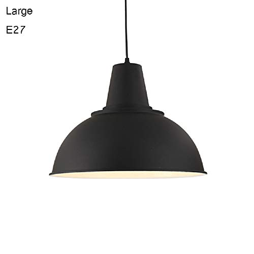 Tritow E27 Iron American Modern Simple Chandelier Industrial Style Ceiling Lamp Restaurant Pendent Lamp Personality Creative Droplight Office Cafe Suspension Light 1-Light (Size : C-l)