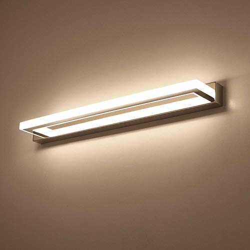 ECOBRT Bathroom Wall Lights 9W 42CM Long, Modern LED Mirror Lights Over Mirror Lighting Fixtures 4000K [Energy Class A++]