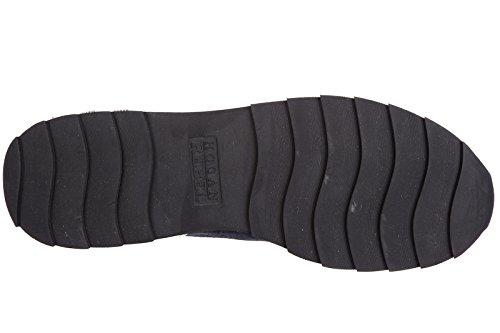 Hogan Rebel scarpe sneakers donna camoscio nuove r261 blu