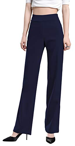 Foucome Dress Pants for Women-Slim Bootcut Stretch High Waist Trousers with All Day Comfort Pull On Style ()