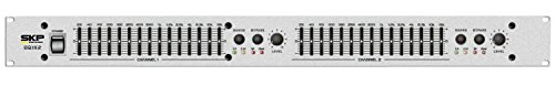 SKP PRO AUDIO EQ-152 GRAPHIC EQUALIZER 2x15 standard 2/3 octaves EQ/Bypass by SKP Pro Audio