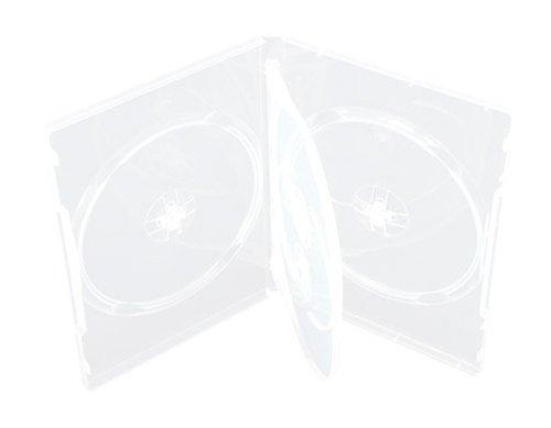 Mediaxpo Brand 10 STANDARD Clear Quad 4 Disc DVD Cases