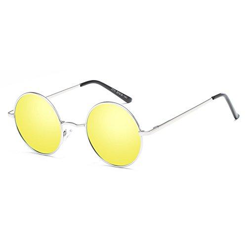 lunettes rétro Lunettes soleil métal conduite hommes C7 de polarisé rondes femmes classique Yying wI6f4