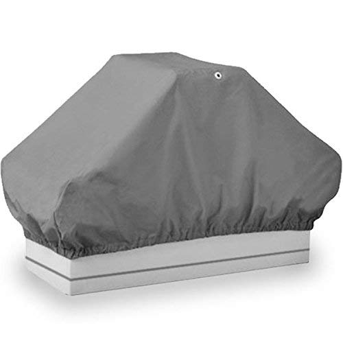North East Harbor BSC-002 Boat Back Double Seat Storage Cover-Gray Heavy Duty Water, Mildew, and UV Resistant Thick Polyester Fabric ()