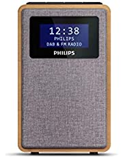 "Philips R5005/10 Klokradio, DAB+ Radio (2,5"" Luidsprekerdriver, Prachtig Design, DAB+/FM-Radio, Duidelijke Zwartglanzende Display, Dubbel Alarm), 2020/2021 Model"
