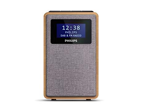 Philips R5005/10 Klokradio, DAB+ Radio (2,5″ Luidsprekerdriver, Prachtig Design, DAB+/FM-Radio, Duidelijke Zwartglanzende Display, Dubbel Alarm), 2020/2021 Model