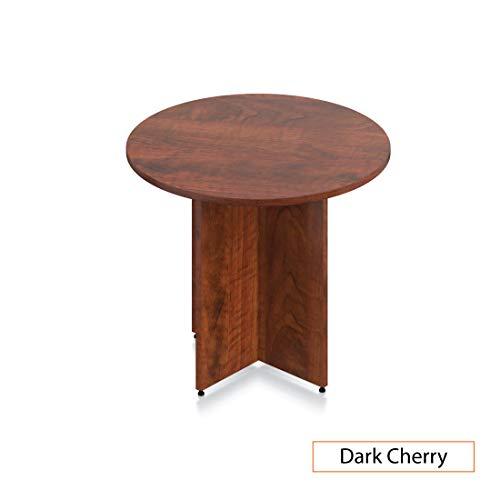 GOF 36'' Round Table (36W x 36D x 29.5H), Cherry, Espresso, Mahogany, Walnut (Dark Cherry 3-Piece Table Set) by GOF (Image #2)