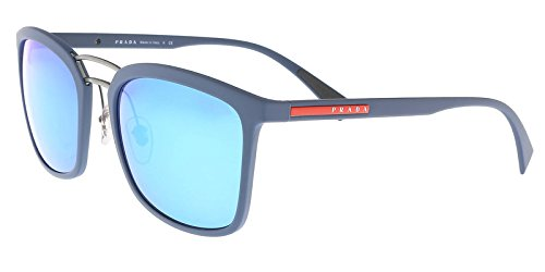 Prada Linea Rossa PS3SS VHG5M2 Non-Pol Sunglasses Blue Rubber - Prada Rectangular Sunglasses
