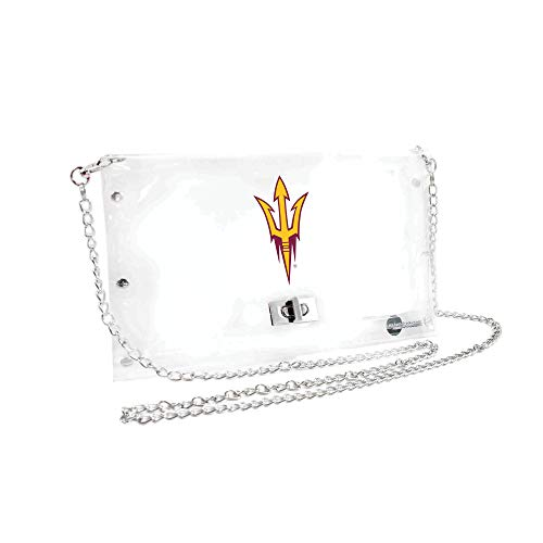 Littlearth Arizona State Sun Devils  NCAA Envelope Purse, Clear  - 10 x 0.5 x 6.5 - Inch