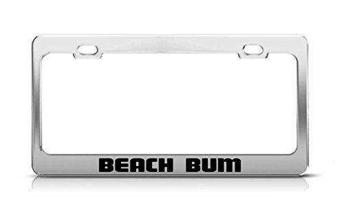 beach bum license plate frame - 7