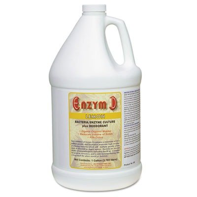 Big D 1500 Enzym D Digester Deodorant, Lemon Fragrance, 1 Gallon (Pack of 4) - Breaks down organic waste and destroys odors - Ideal for use on urine in restrooms and carpets