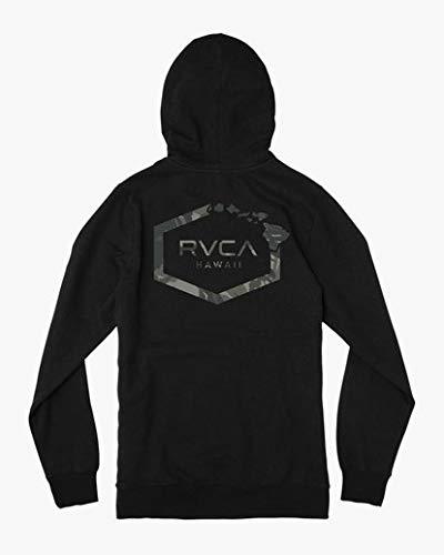 RVCA Men's Island HEX Fleece Hooded Sweatshirt, Black, M