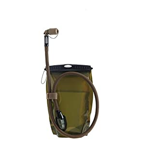 Source Tactical Kangaroo 1-Liter Collapsible Canteen Hydration System System with Storm Push-Pull Drinking Valve without Pouch (Coyote)