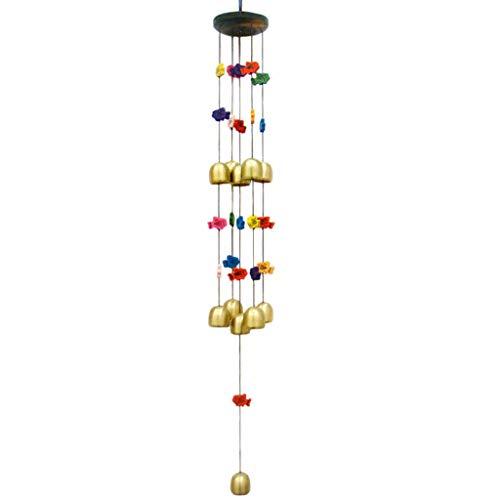 LF Stores-Wind Creativo Colorido Pescado Campanas de Cobre Campanas de Viento Colgando de Metal Decoración de la Puerta...