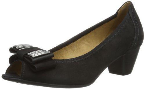 Gabor Shoes Gabor - Punta abierta Mujer Negro (Schwarz (Schwarz))