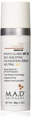 M.A.D SKINCARE SOLAR PROTECTION: Photo Guard SPF 50 Self-Adjusting Foundation Serum: Neutral - 30g by M.A.D.