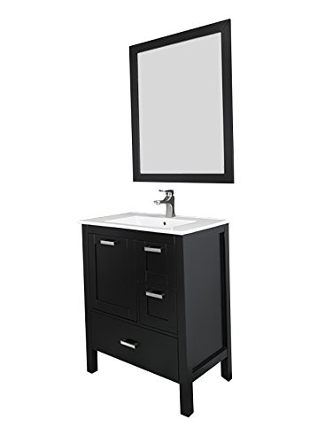 "Siena 30"", espresso, solid doors, ceramic sink by Priele (Image #2)"