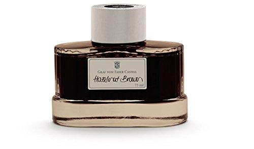 - Graf von Faber-Castell Fountain Pen Ink, 75ml, Hazelnut Brown (FC141002)