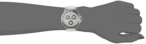 Invicta Women's Speedway Stainless Steel Quartz Watch with Silicone Strap, White, 17 (Model: 21972)