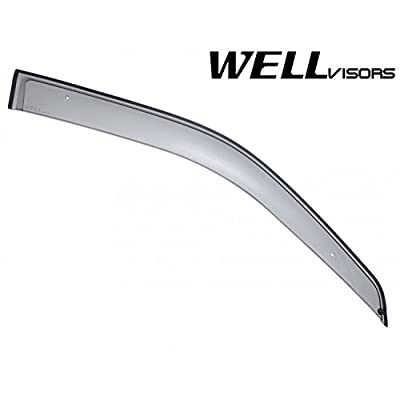 WellVisors Premium Sleek HD Side Window Visor Smoke Clip On: Automotive