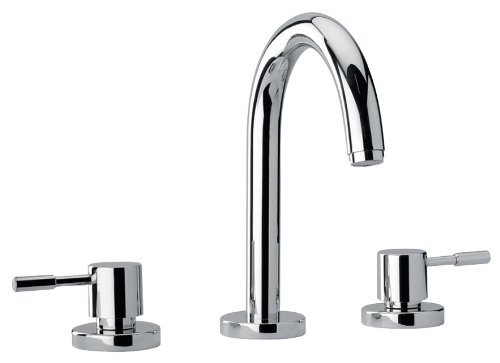 (Jewel Faucets 16102 Chrome Two Lever Handle Roman Tub Faucet with Goose Neck Spout by Jewel Faucets )