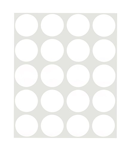 ChromaLabel 1 inch Removable Color-Code Dot Labels on Sheets | 1,000/Pack (White) ()