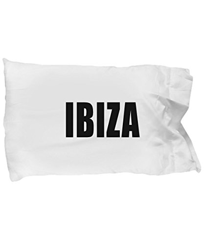 Hogue WS LLC Ibiza Standard Size White Pillow Case Mediterranean Sea, East Coast of Spain, EDM Party Central by Hogue WS LLC