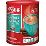 NESTLE Fat Free Rich Milk Chocolate Hot Cocoa Mix, 7.33 oz. Canister | Pack of 4 | Hot Chocolate Made with Real Cocoa