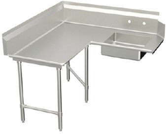 Elkay SSP LLC DDTL-84-L Standard L-Shaped Soiled Dishtable