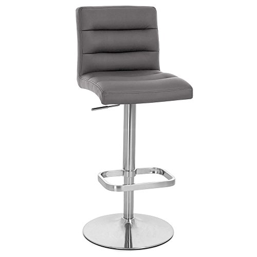 Zuri Furniture Slate Lush Adjustable Height Swivel Armless Bar Stool Review