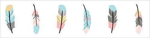 Girls Bedroom Wall Border'' (Sweet Jojo Designs Baby Childrens and Kids Wall Paper Border for Feather Collection)