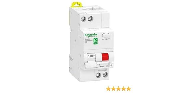 Schneider – resi9 XP Interruptor diferencial 1P + N 32 A 30 mA curva C Type FSI Schneider r9pdcf32 – sch-r9pdcf32: Amazon.es: Iluminación
